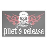 Fillet & Release Rectangle Decal