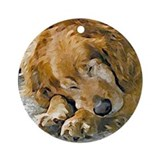 dog Round Ornamentgolden retriever
