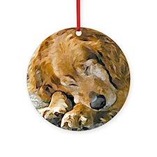 dog Round Ornamentgolden retriever