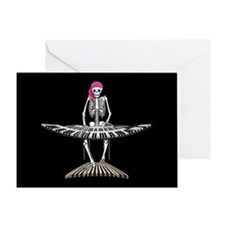 Keyboard Skeleton Greeting Card