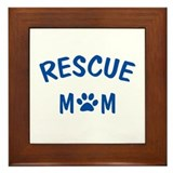 Rescue Mom Framed Tile