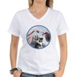 Creation-G-Shep (15) Women's V-Neck T-Shirt