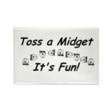 Midget wrestling Rectangle Magnet
