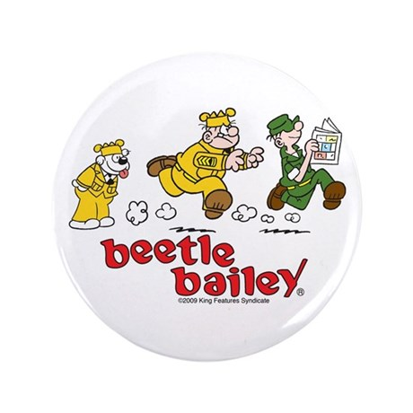 "Otto, Sarge, and Beetle Chase 3.5"" Button"