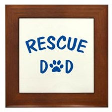 Rescue Dad Framed Tile