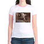 Women Sexy Poses Jr. Ringer T-Shirt