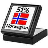 51% Norwegian Keepsake Box