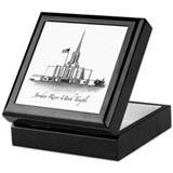 Jordan River Utah Temple Keepsake Box