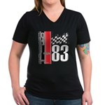 Mustang 83 RWB Women's V-Neck Dark T-Shirt