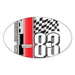 Mustang 83 RWB Oval Sticker