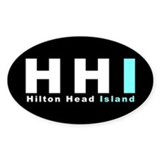 Hilton Head Island Oval Decal
