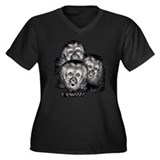 Capuchins Women's Plus Size V-Neck Dark T-Shirt