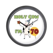 Cow 70th Birthday Wall Clock