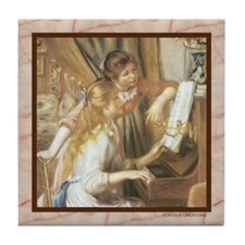 Renoir - Piano - Tile Coaster