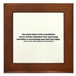 James K. Polk Quote Framed Tile