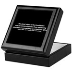 James K. Polk Quote Keepsake Box