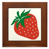 Strawberry Framed Tile