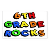 6th Grade Rocks Rectangle Decal
