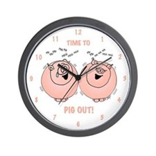 Time to Pig Out Wall Clock