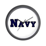"""Navy Blue"" Wall Clock"