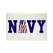 """Navy Bold"" Rectangle Magnet"