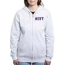 """""""Navy Bold"""" Zip Hoodie"""