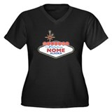 Fabulous Nome Women's Plus Size V-Neck Dark T-Shir