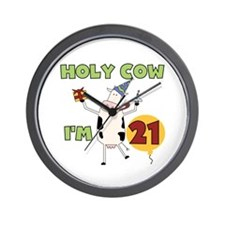 Cow 21st Birthday Wall Clock