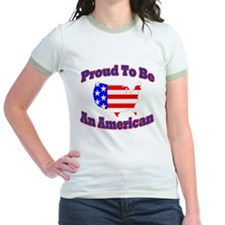 Cute American pride red white blue T