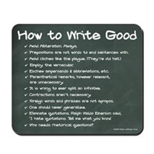 How to Write Good Chalkboard Mousepad