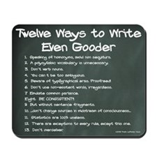 12 Ways to Write Even Gooder Chalkboard Mousepad