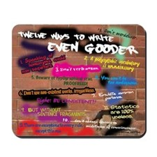 12 Ways to Write Even Gooder Graffiti Mousepad
