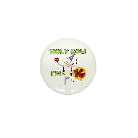 Cow 16th Birthday Mini Button (100 pack)