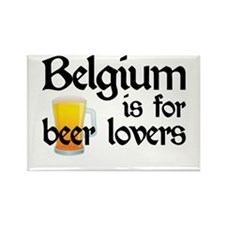 Belgium is for Beer Lovers Rectangle Magnet