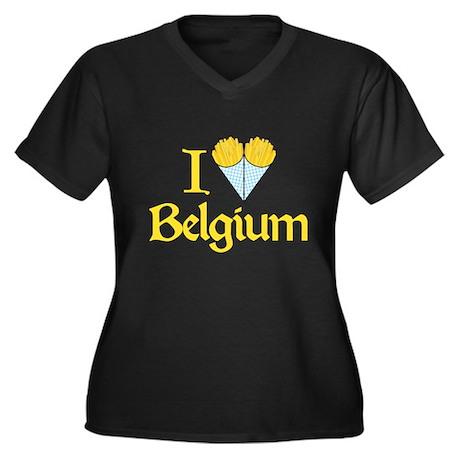 I Love Belgium (Fries) Women's Plus Size V-Neck Da
