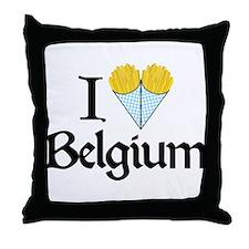 I Love Belgium (Fries) Throw Pillow