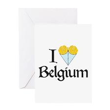 I Love Belgium (Fries) Greeting Card