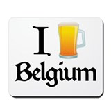 I Love Belgium (beer) Mousepad