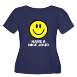 Have a Nice Jour Women's Plus Size Scoop Neck Dark