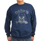 Fish Fear Me Skull Jumper Sweater