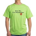 Kiss Me, I'm Macedonian Green T-Shirt