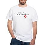 Kiss Me, I'm Macedonian White T-Shirt