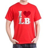 I Love Laguna Beach (LB) - Black T-Shirt