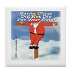 Santa Cross Tile Coaster