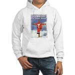 Santa Cross Hooded Sweatshirt