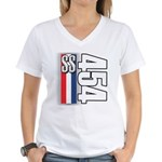 454 SS RWB Women's V-Neck T-Shirt