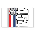 454 SS RWB Rectangle Sticker 50 pk)