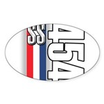 454 SS RWB Oval Sticker (10 pk)