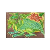 Three-headed dragon Rectangle Magnet (100 pack)