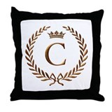 Napoleon initial letter C monogram Throw Pillow
